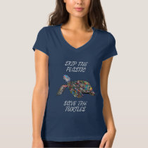 Save The Turtles Skip The Plastic Pollution T-Shirt