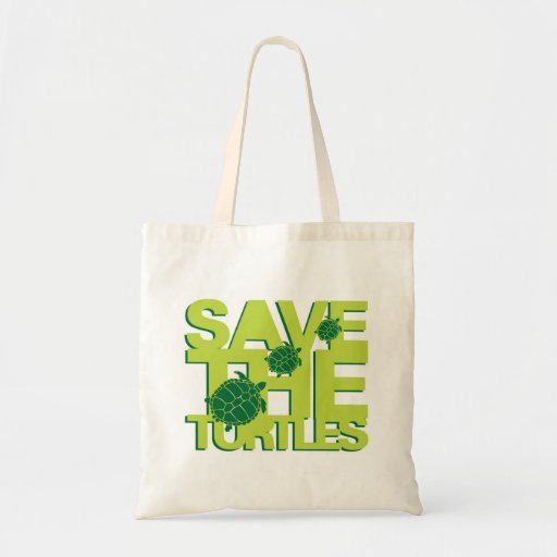 Save the Turtles Tote Bags