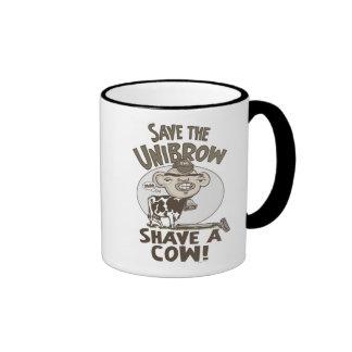 Save the Unibrow Ringer Mug