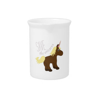 Save the Unicorns Beverage Pitcher
