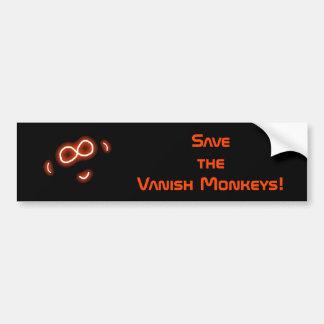 Save the Vanish Monkeys bumper sticker