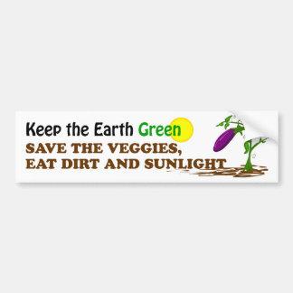 Save the Veggies Bumper Sticker