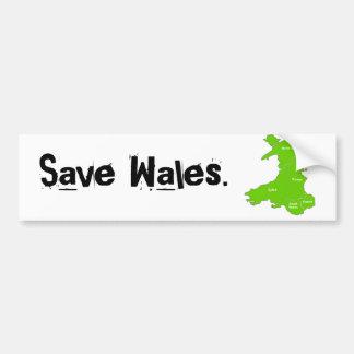 save the Wales. Car Bumper Sticker