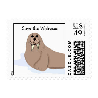 Save the Walruses Postage Stamp