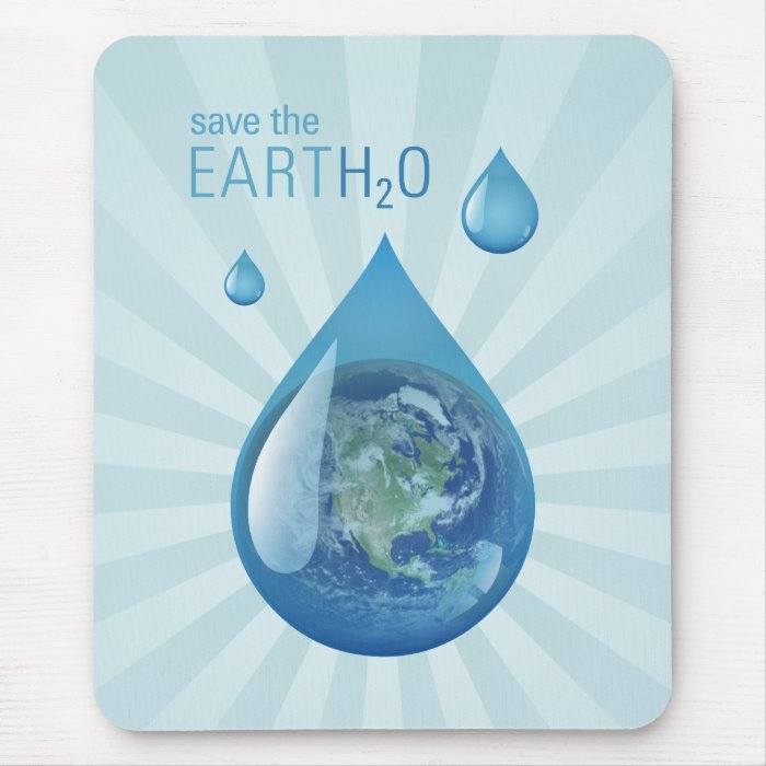 Save The Water mousepad