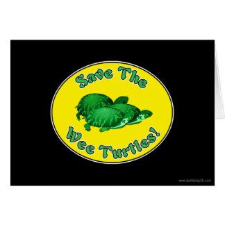 Save the Wee Turtles Greeting Card