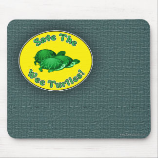 Save the Wee Turtles Mouse Pads