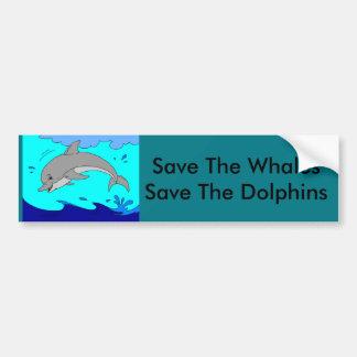 Save The Whale Bumper Sticker