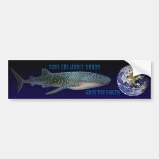 Save the Whale Shark (dark background) Bumper Sticker