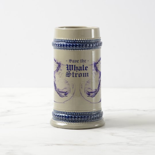 Save The Whale Strom Beer Stein