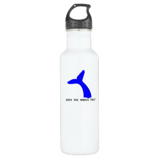 Save The Whale Tail Bottle 24oz Water Bottle