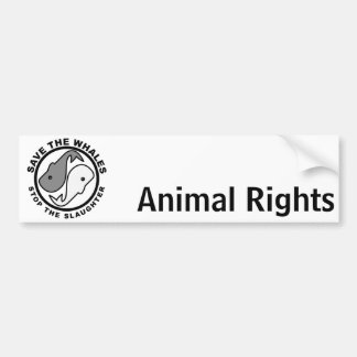 Save the Whales - Animal Rights Bumper Sticker