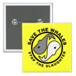 Save the Whales - Animal Rights 2 Inch Square Button