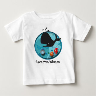Save the Whales Baby T-Shirt