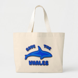 SAVE THE WHALES CANVAS BAGS