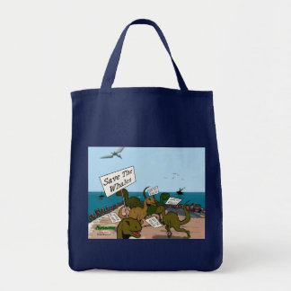 Save the Whales Grocery Tote Bag