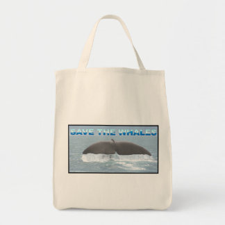 Save the Whales Canvas Bag
