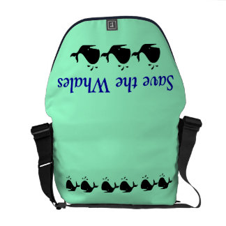 """""""Save the Whales"""" bag Messenger Bags"""