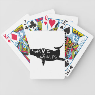 Save the Whales Bicycle Playing Cards