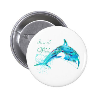 Save the Whales Blue Pins