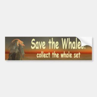 save the whales car bumper sticker