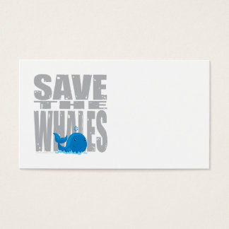 Save the Whales Business Card