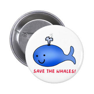 Save the Whales! Pinback Button