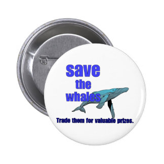 Save The Whales Pins