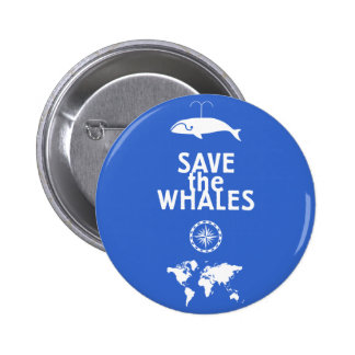 Save the Whales Pinback Buttons