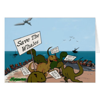 Save the Whales Card