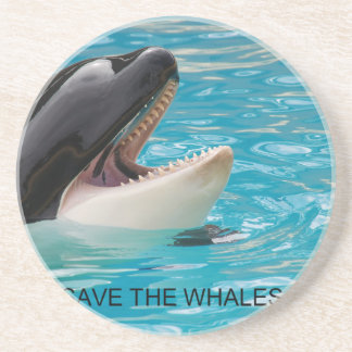 SAVE THE WHALES COASTER