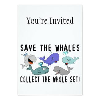 Save The Whales Collect The Whole Set Card