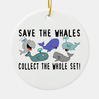 Save The Whales Collect The Whole Set Ceramic Ornament