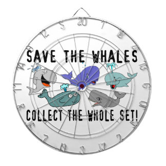 Save The Whales Collect The Whole Set Dartboard With Darts