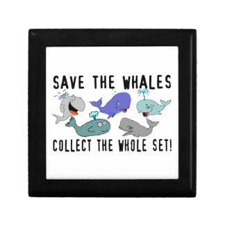 Save The Whales Collect The Whole Set Jewelry Box