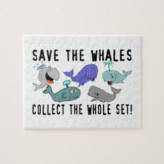 Save The Whales Collect The Whole Set Jigsaw Puzzle