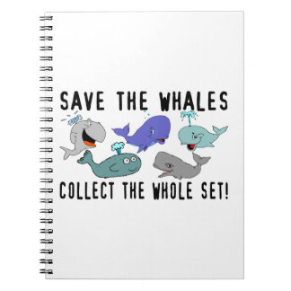 Save The Whales Collect The Whole Set Notebook