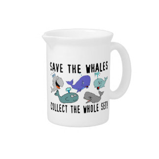 Save The Whales Collect The Whole Set Drink Pitchers