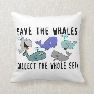 Save The Whales Collect The Whole Set Throw Pillow