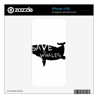 Save the Whales Decal For The iPhone 4S