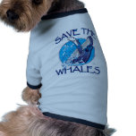 Save the Whales Doggie T Shirt