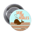 Save The Whales - Environmentally Conscious 2 Inch Round Button