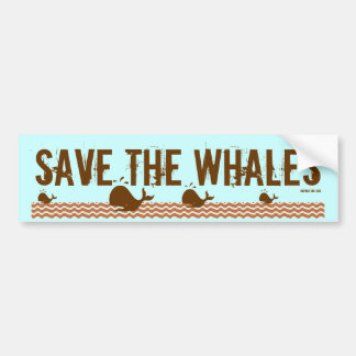 Save The Whales - Environmentally Conscious Car Bumper Sticker