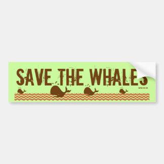 Save The Whales - Environmentally Conscious Car Bumper Sticker