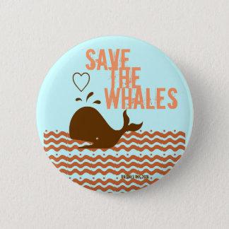 Save The Whales - Environmentally Conscious Button