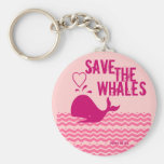 Save The Whales - Environmentally Conscious Basic Round Button Keychain