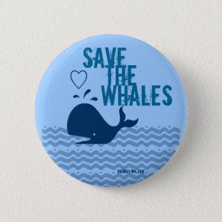 Save The Whales - Environmentally Conscious Pinback Button
