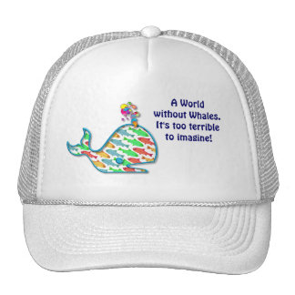 Save the Whales Hat Cap 100% Royalties Donated