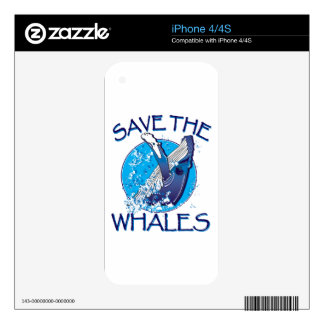 Save the Whales iPhone 4S Decals