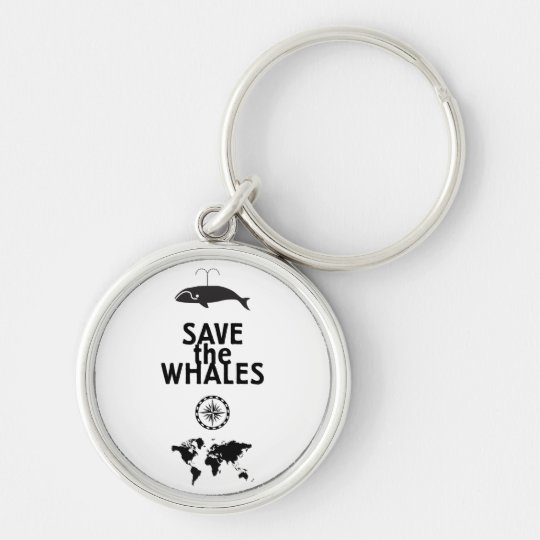 Save the Whales Keychain